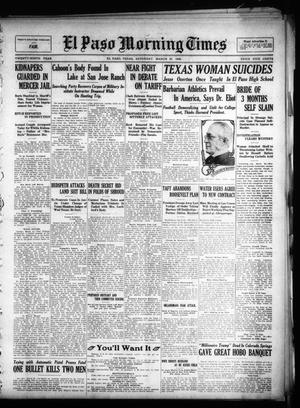 Primary view of object titled 'El Paso Morning Times (El Paso, Tex.), Vol. 29, Ed. 1 Saturday, March 27, 1909'.