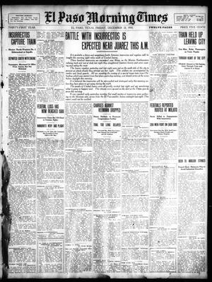 Primary view of object titled 'El Paso Morning Times (El Paso, Tex.), Vol. 31, Ed. 1 Friday, December 23, 1910'.