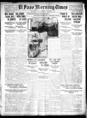Primary view of object titled 'El Paso Morning Times (El Paso, Tex.), Vol. 30, Ed. 1 Thursday, March 3, 1910'.