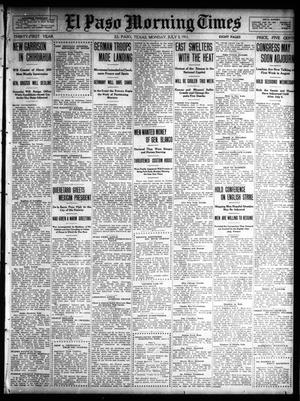 Primary view of object titled 'El Paso Morning Times (El Paso, Tex.), Vol. 31, Ed. 1 Monday, July 3, 1911'.