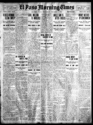 Primary view of object titled 'El Paso Morning Times (El Paso, Tex.), Vol. 31, Ed. 1 Wednesday, December 7, 1910'.