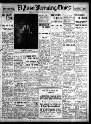 Primary view of object titled 'El Paso Morning Times (El Paso, Tex.), Vol. 31, Ed. 1 Sunday, January 8, 1911'.