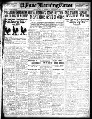 Primary view of object titled 'El Paso Morning Times (El Paso, Tex.), Vol. 32, Ed. 1 Thursday, December 14, 1911'.