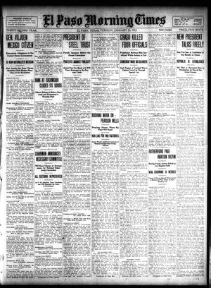 Primary view of object titled 'El Paso Morning Times (El Paso, Tex.), Vol. 32, Ed. 1 Tuesday, January 23, 1912'.