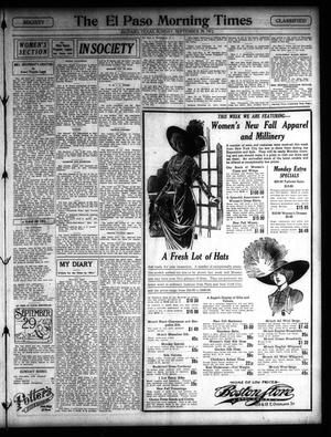 Primary view of object titled 'El Paso Morning Times (El Paso, Tex.), Vol. 32, Ed. 1 Sunday, September 29, 1912'.