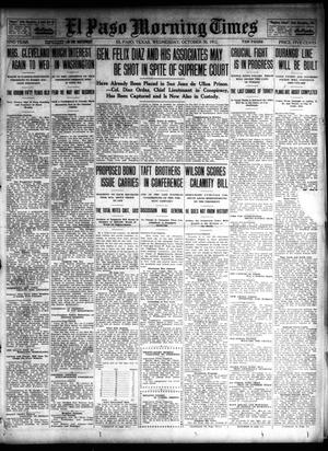 Primary view of object titled 'El Paso Morning Times (El Paso, Tex.), Vol. 32, Ed. 1 Wednesday, October 30, 1912'.