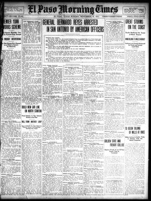 Primary view of object titled 'El Paso Morning Times (El Paso, Tex.), Vol. 32, Ed. 1 Sunday, November 19, 1911'.