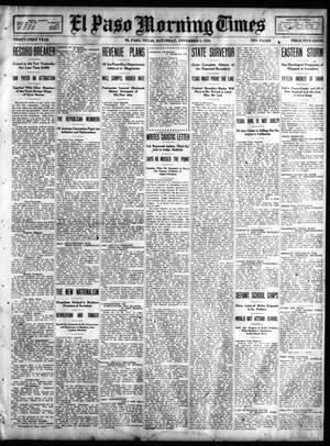 Primary view of object titled 'El Paso Morning Times (El Paso, Tex.), Vol. 31, Ed. 1 Saturday, November 5, 1910'.
