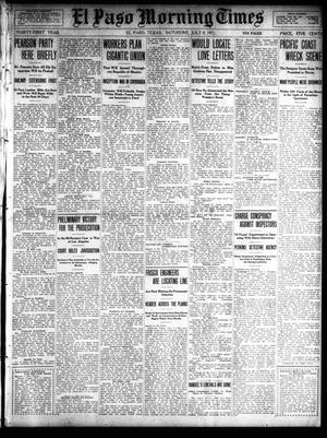 Primary view of object titled 'El Paso Morning Times (El Paso, Tex.), Vol. 31, Ed. 1 Saturday, July 8, 1911'.