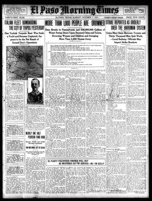 Primary view of object titled 'El Paso Morning Times (El Paso, Tex.), Vol. 31, Ed. 1 Sunday, October 1, 1911'.
