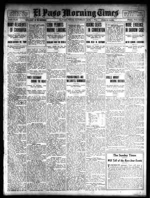 Primary view of object titled 'El Paso Morning Times (El Paso, Tex.), Vol. 32, Ed. 1 Saturday, June 1, 1912'.