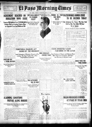 Primary view of object titled 'El Paso Morning Times (El Paso, Tex.), Vol. 30, Ed. 1 Tuesday, June 21, 1910'.