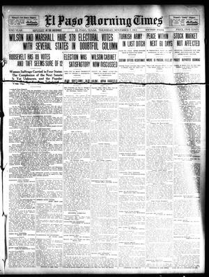 Primary view of object titled 'El Paso Morning Times (El Paso, Tex.), Vol. 32, Ed. 1 Thursday, November 7, 1912'.