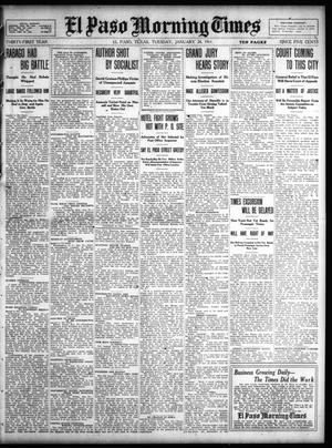Primary view of object titled 'El Paso Morning Times (El Paso, Tex.), Vol. 31, Ed. 1 Tuesday, January 24, 1911'.