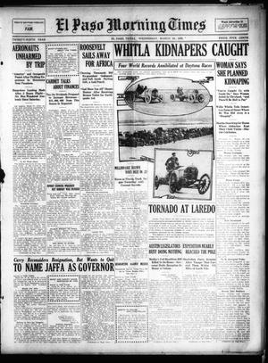 Primary view of object titled 'El Paso Morning Times (El Paso, Tex.), Vol. 29, Ed. 1 Wednesday, March 24, 1909'.
