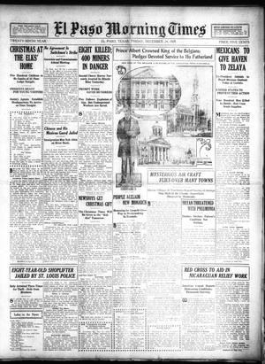 Primary view of object titled 'El Paso Morning Times (El Paso, Tex.), Vol. 29, Ed. 1 Friday, December 24, 1909'.