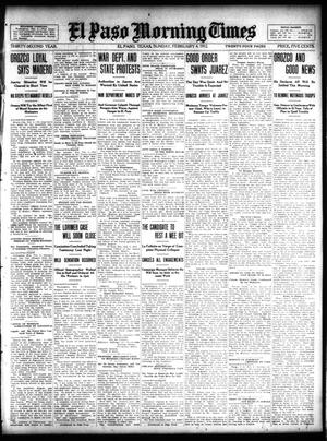 Primary view of object titled 'El Paso Morning Times (El Paso, Tex.), Vol. 32, Ed. 1 Sunday, February 4, 1912'.