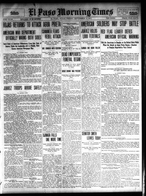 Primary view of object titled 'El Paso Morning Times (El Paso, Tex.), Vol. 32, Ed. 1 Friday, September 13, 1912'.