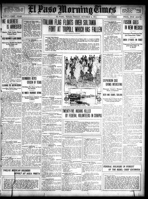 Primary view of object titled 'El Paso Morning Times (El Paso, Tex.), Vol. 31, Ed. 1 Friday, October 6, 1911'.