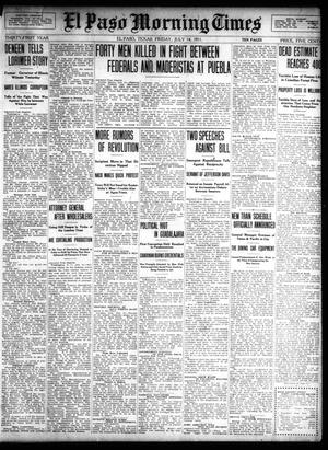 Primary view of object titled 'El Paso Morning Times (El Paso, Tex.), Vol. 31, Ed. 1 Friday, July 14, 1911'.