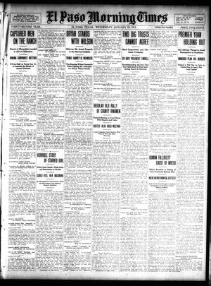 Primary view of object titled 'El Paso Morning Times (El Paso, Tex.), Vol. 32, Ed. 1 Wednesday, January 24, 1912'.