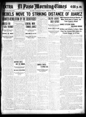 Primary view of object titled 'El Paso Morning Times (El Paso, Tex.), Vol. 32, Ed. 2 Saturday, February 24, 1912'.