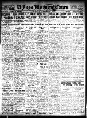 Primary view of object titled 'El Paso Morning Times (El Paso, Tex.), Vol. 32, Ed. 1 Tuesday, January 28, 1913'.
