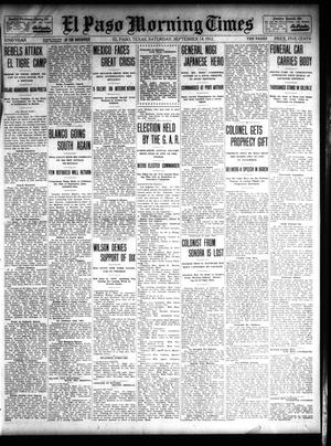 Primary view of object titled 'El Paso Morning Times (El Paso, Tex.), Vol. 32, Ed. 1 Saturday, September 14, 1912'.