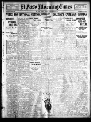 Primary view of object titled 'El Paso Morning Times (El Paso, Tex.), Vol. 30, Ed. 1 Friday, September 9, 1910'.