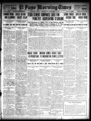 Primary view of object titled 'El Paso Morning Times (El Paso, Tex.), Vol. 32, Ed. 1 Wednesday, December 18, 1912'.