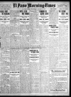 Primary view of object titled 'El Paso Morning Times (El Paso, Tex.), Vol. 31, Ed. 1 Wednesday, January 11, 1911'.