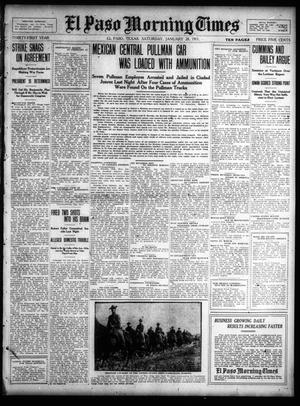 Primary view of object titled 'El Paso Morning Times (El Paso, Tex.), Vol. 31, Ed. 1 Saturday, January 28, 1911'.