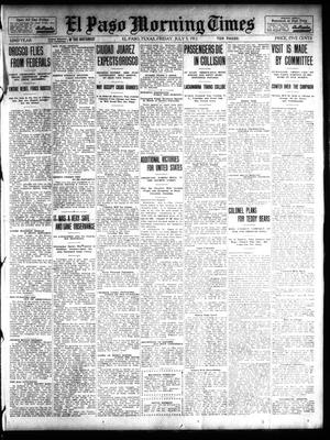 Primary view of object titled 'El Paso Morning Times (El Paso, Tex.), Vol. 32, Ed. 1 Friday, July 5, 1912'.