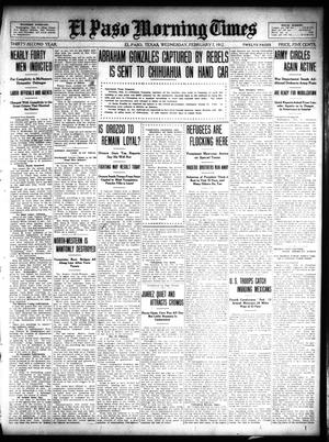 Primary view of object titled 'El Paso Morning Times (El Paso, Tex.), Vol. 32, Ed. 1 Wednesday, February 7, 1912'.