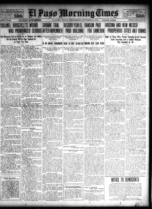 Primary view of object titled 'El Paso Morning Times (El Paso, Tex.), Vol. 32, Ed. 1 Wednesday, October 16, 1912'.