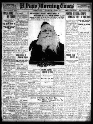 Primary view of object titled 'El Paso Morning Times (El Paso, Tex.), Vol. 32, Ed. 1 Sunday, December 24, 1911'.