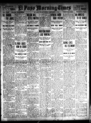 Primary view of object titled 'El Paso Morning Times (El Paso, Tex.), Vol. 32, Ed. 1 Sunday, December 1, 1912'.