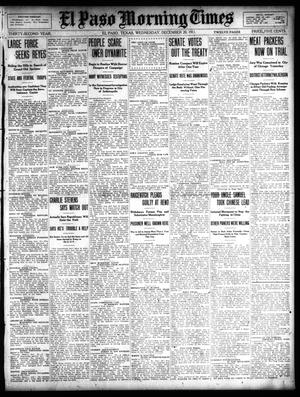 Primary view of object titled 'El Paso Morning Times (El Paso, Tex.), Vol. 32, Ed. 1 Wednesday, December 20, 1911'.