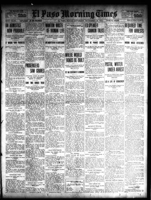 Primary view of object titled 'El Paso Morning Times (El Paso, Tex.), Vol. 32, Ed. 1 Saturday, November 30, 1912'.
