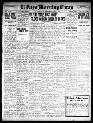 Primary view of object titled 'El Paso Morning Times (El Paso, Tex.), Vol. 32, Ed. 1 Wednesday, April 3, 1912'.