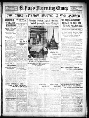 Primary view of object titled 'El Paso Morning Times (El Paso, Tex.), Vol. 30, Ed. 1 Saturday, January 29, 1910'.