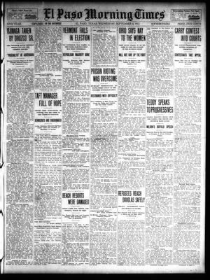 Primary view of object titled 'El Paso Morning Times (El Paso, Tex.), Vol. 32, Ed. 1 Wednesday, September 4, 1912'.