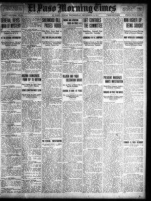 Primary view of object titled 'El Paso Morning Times (El Paso, Tex.), Vol. 32, Ed. 1 Wednesday, December 13, 1911'.