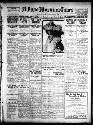 Primary view of object titled 'El Paso Morning Times (El Paso, Tex.), Vol. 29, Ed. 1 Tuesday, July 13, 1909'.