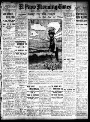 Primary view of object titled 'El Paso Morning Times (El Paso, Tex.), Vol. 32, Ed. 1 Monday, January 1, 1912'.