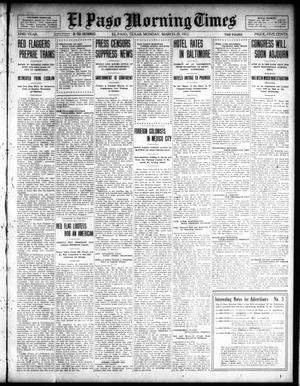 Primary view of object titled 'El Paso Morning Times (El Paso, Tex.), Vol. 32, Ed. 1 Monday, March 25, 1912'.