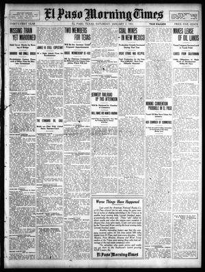Primary view of object titled 'El Paso Morning Times (El Paso, Tex.), Vol. 31, Ed. 1 Saturday, January 7, 1911'.