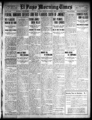 Primary view of object titled 'El Paso Morning Times (El Paso, Tex.), Vol. 32, Ed. 1 Saturday, March 23, 1912'.
