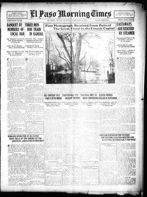 Primary view of object titled 'El Paso Morning Times (El Paso, Tex.), Vol. 30, Ed. 1 Sunday, February 6, 1910'.