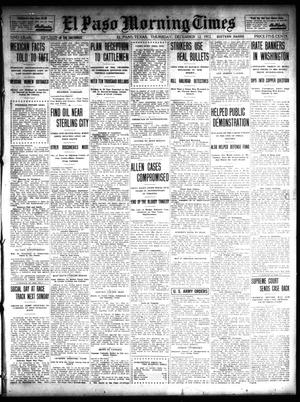 Primary view of object titled 'El Paso Morning Times (El Paso, Tex.), Vol. 32, Ed. 1 Thursday, December 12, 1912'.